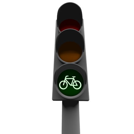 showed: bike can move showed on traffic light