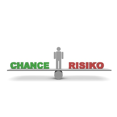 chance and risk balance photo