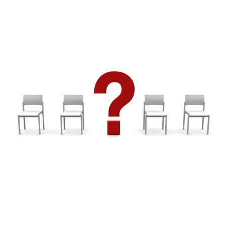 chairs and question Stock Photo - 20919020