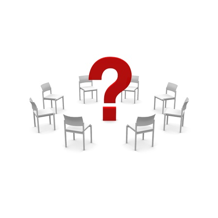 chairs and question Stock Photo - 20919022