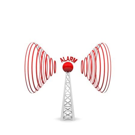 telephone mast: Alarm Stock Photo
