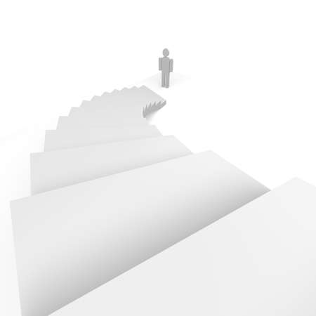 man and stairs Stock Photo - 22846063