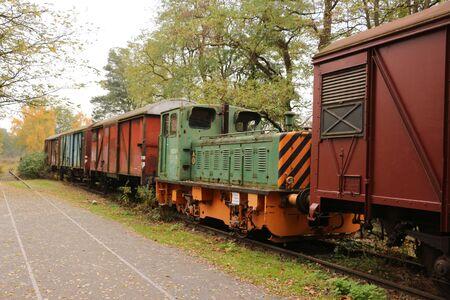 Old goods train in the Landschasftspark Duisburg-Nord