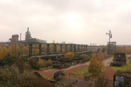 Autumn in the landscape park Duisburg-Nord