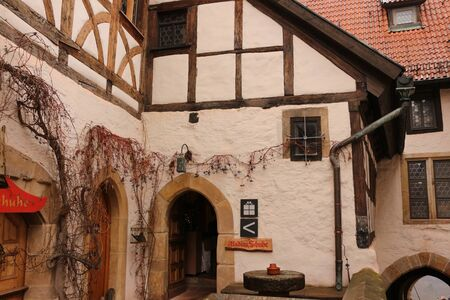 Half-timbered houses in the interior of the Wartburg Reklamní fotografie