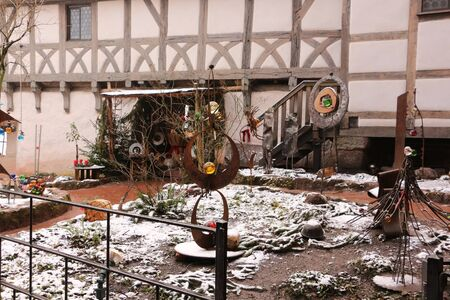 Christmas market in the courtyard of the Wartburg