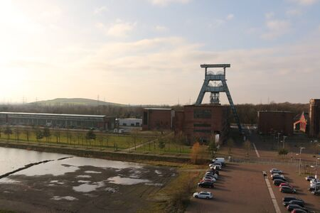 View of a disused colliery in Herten in the Ruhr area