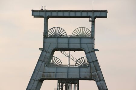 Old conveyor tower of a disused colliery