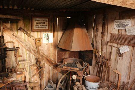 Forge furnace in a museum in Bernried Reklamní fotografie
