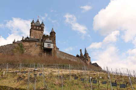 The imperial castle in Cochem on the Mosel Redactioneel