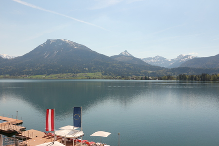 View from St.Wolfgang over the Wolfgangsee Stock Photo