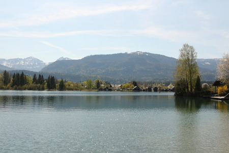 View over the Wolfgangsee in the Salzkammergut