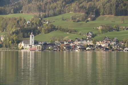 View over the Wolfgangsee on St. Wolfgang