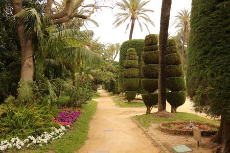Park in the center of Cadiz in Andalucia