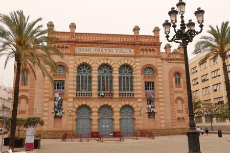 The famous Gran Teatro Falla in the historic center of Cadiz in Andalusia