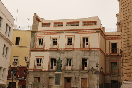Historic building in the center of Cadiz in Andalusia
