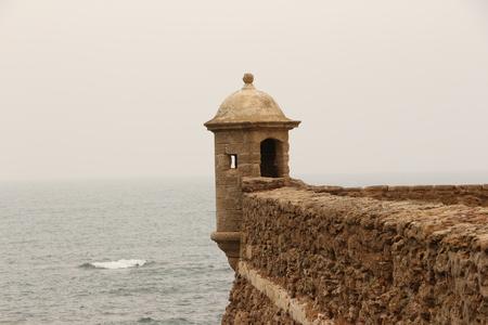 Watchtower of the Castllo Santa Catalina in Cadiz in Andalucia