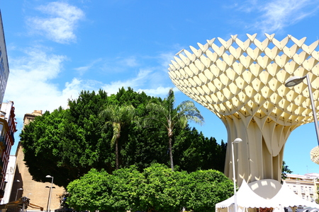 The observation deck Metropol Parasol in the center of Seville, the capital of Andalusia Editöryel