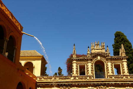 Historic buildings in the Royal Palace Alc?zar in Seville