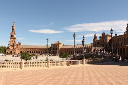 The Spanish Square in Seville Stockfoto