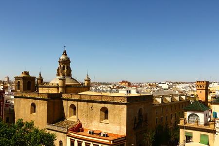 Historic buildings in the center of Seville Stockfoto