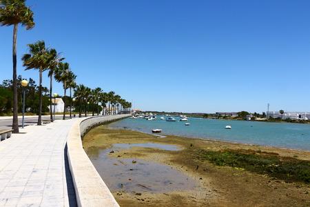 Waterfront in Novo Sancti Petri in Andalusia