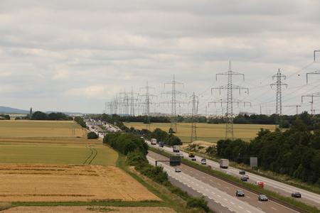 Busy highway near Frankfurt