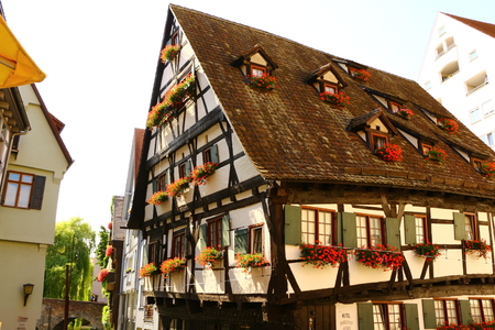Old half-timbered house in the fishing district of Ulm