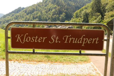 Name badge of the monastery St. Trudpert in the Black Forest