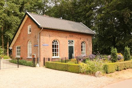 Small residential building in the Veluwe, the largest contiguous forest area of ??the Netherlands