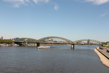 View of the Hohenzollern Bridge in Cologne