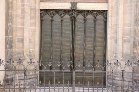The theses door at the castle church in Lutherstadt-Wittenberg