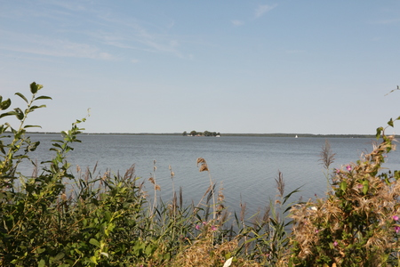 View over the Steinhuder Meer to the island Wilhelmstein