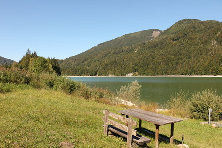 View of the Schwarzensee near St. Wolfgang in the Salzkammergut