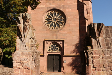 View of the Marienkapelle in the monastery Hirsau in the Black Forest