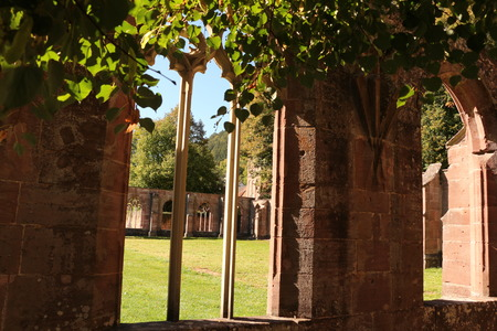 View from the former cloister of Hirsau monastery to the courtyard