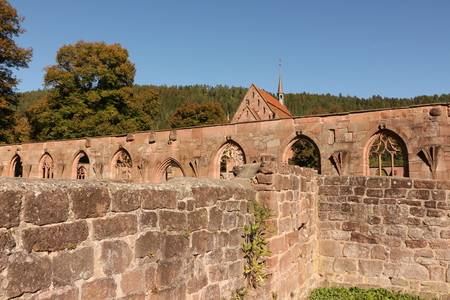 Remains of the Wall in Hirsau Monastery in the Black Forest