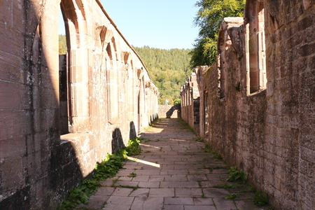 Old walls in the monastery Hirsau in the Black Forest