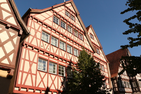 Old half-timbered house in the center of Calw in the Black Forest Banco de Imagens