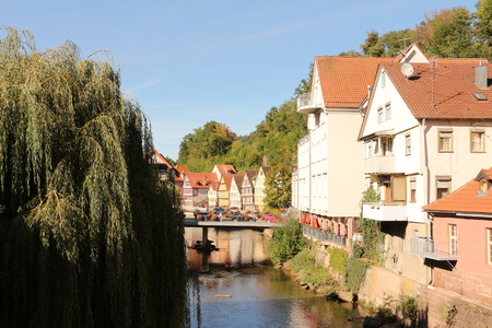 The river Nagold in the center of Calw in the Black Forest