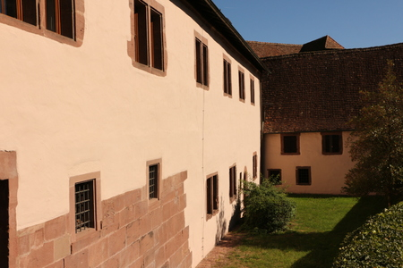 Street view of Hirsau Monastery in the Black Forest