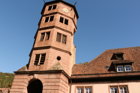 Old tower on the monastery grounds of Hirsau monastery in the Black Forest Imagens