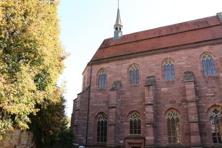 View of the Marienkapelle in Hirsau Abbey in the Black Forest Imagens