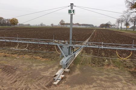 Irrigation system on a field Reklamní fotografie