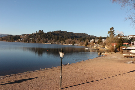 Sunny autumn day on the Titisee in the Black Forest