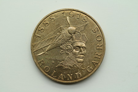 Back of the former 10 franc coin from France Banco de Imagens