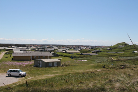 View of a holiday village near Loekken in the north of Denmark
