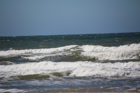 View of the North Sea near Loekken in the north of Denmark