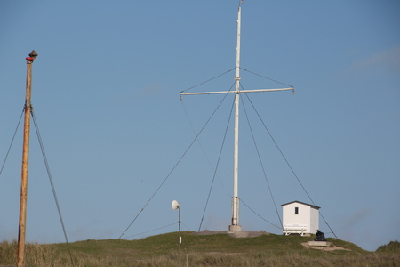 Signal system on the beach of Loekken in the north of Denmark