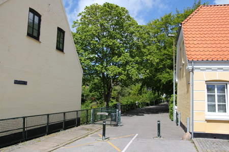 In the center of Saeby, a coastal town in northern Denmark